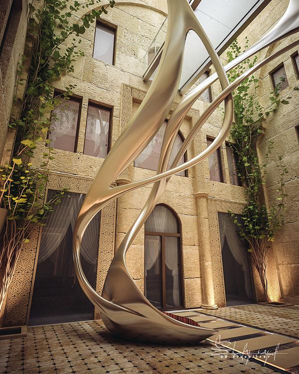 curte interioara design Shomou Salah 1