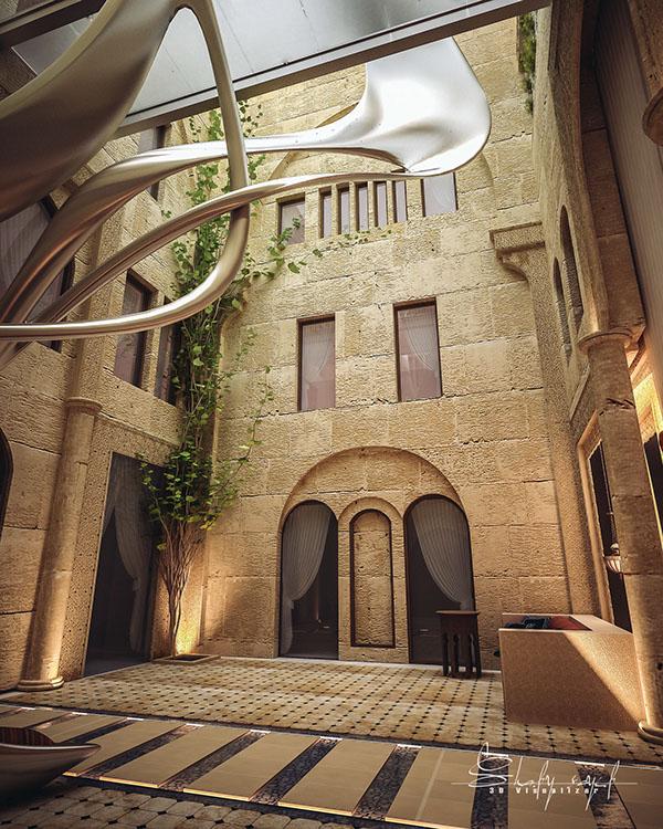 curte interioara design Shomou Salah 4