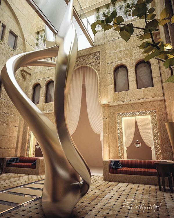 curte interioara design Shomou Salah 5