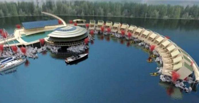 hotel plutitor berzasca