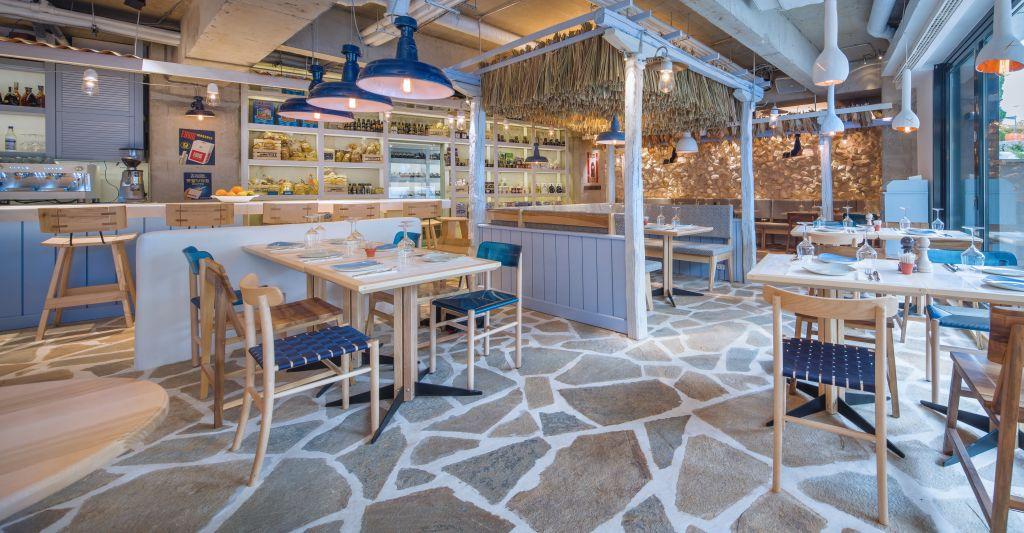 restaurant grecesc in alb si albastru