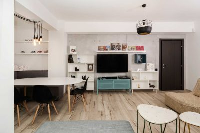 Un apartament cu look nordic in Capitala