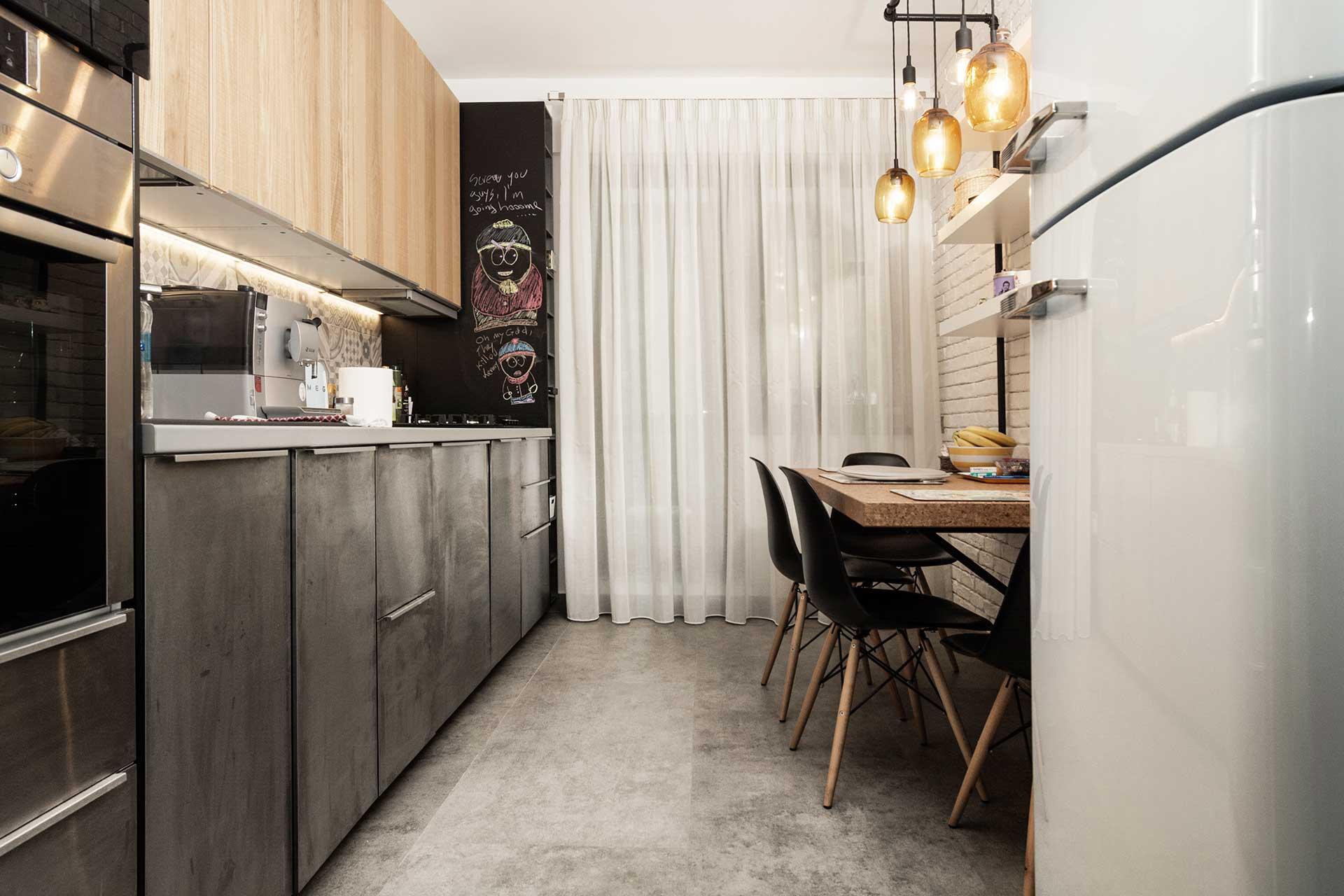 apartament cu look nordic bucatarie