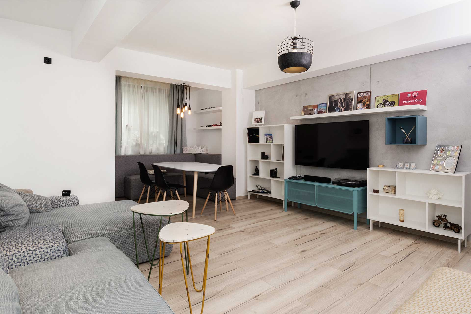 apartament cu look nordic living
