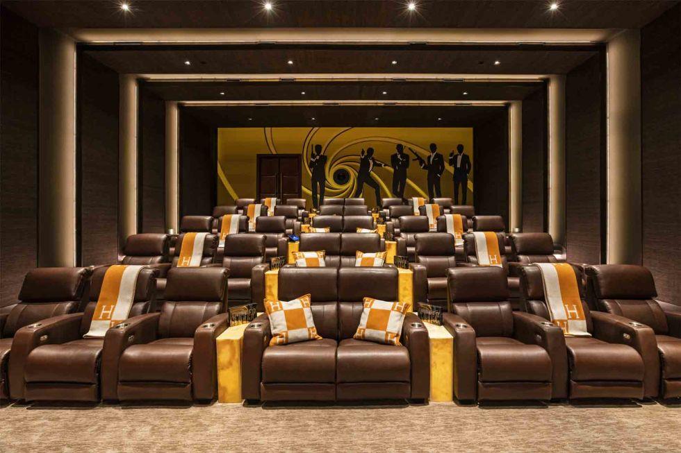 cea mai scumpa casa din America - sala de cinema