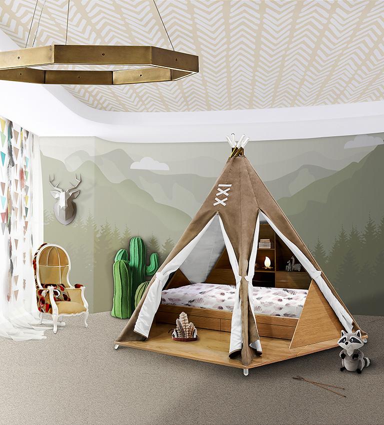 mobilier pentru copii pat teepee