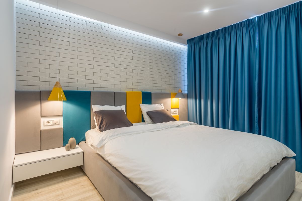 amenajare în timp record amenajare dormitor albastru