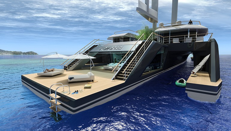 Pe aripile vantului: super yacht eco-friendly, cu… un copac la bord