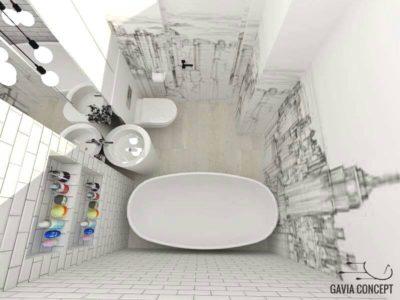 Zgarie-nori fermecatori intr-o baie de 4 mp